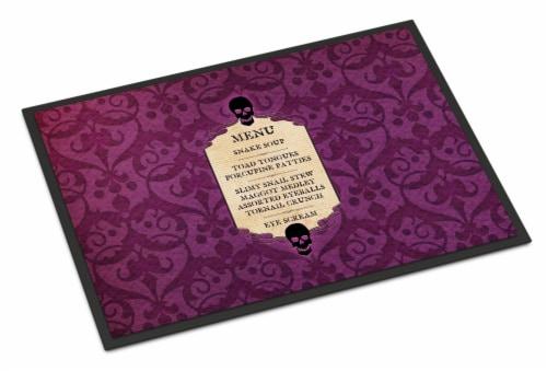 Goulish Menu including Eye Screen Snake soup Halloween Mat Doormat Perspective: front