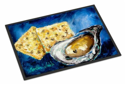 Carolines Treasures  MW1089JMAT Oysters Two Crackers Indoor or Outdoor Mat 24x36 Perspective: front