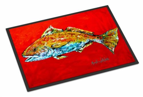 Fish - Red Fish Red Head Indoor or Outdoor Mat 24x36 Doormat Perspective: front