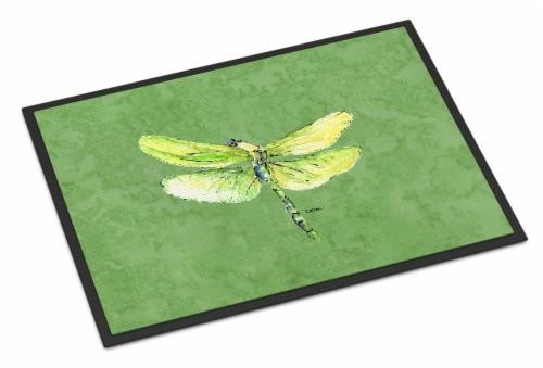 Carolines Treasures  8864JMAT Dragonfly on Avacado Indoor or Outdoor Mat 24x36 D Perspective: front