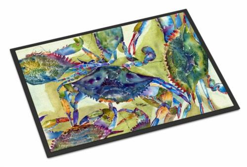 Carolines Treasures  8512JMAT Crab All Over Indoor or Outdoor Mat 24x36 Doormat Perspective: front