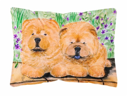 Carolines Treasures  SS8123PW1216 Chow Chow Decorative   Canvas Fabric Pillow Perspective: front