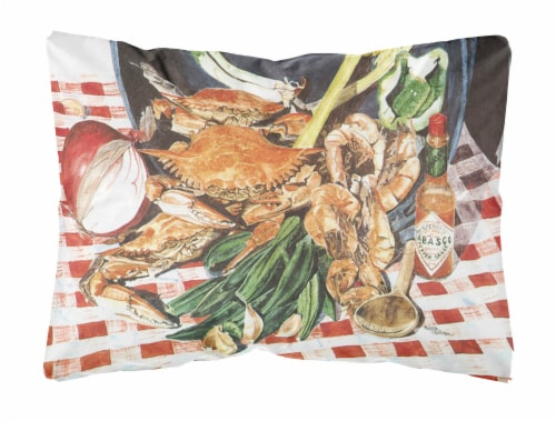 Carolines Treasures  8537PW1216 Crab Boil Decorative   Canvas Fabric Pillow Perspective: front