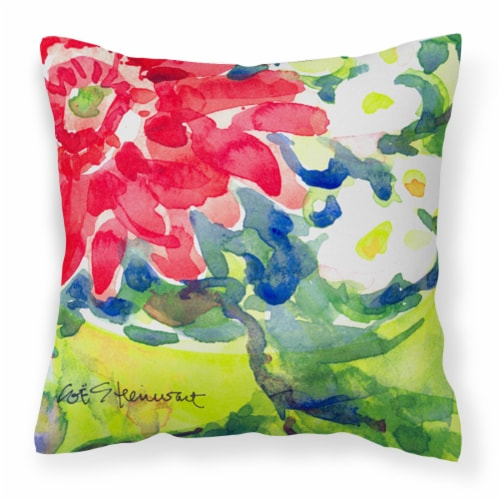 Carolines Treasures  6126PW1414 Flower Decorative   Canvas Fabric Pillow Perspective: front