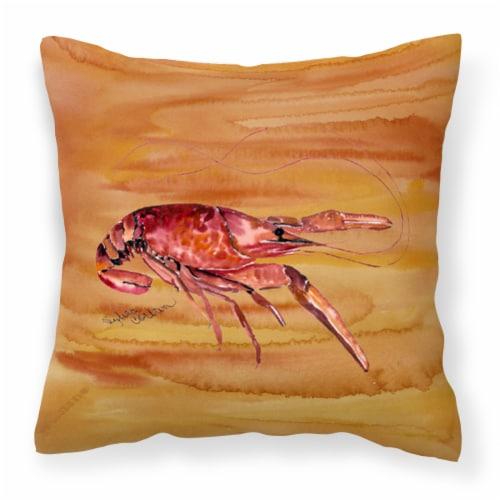 Carolines Treasures  8232PW1414 Crawfish Decorative   Canvas Fabric Pillow Perspective: front