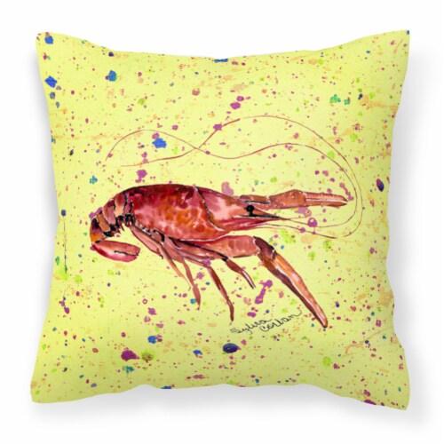 Carolines Treasures  8451PW1414 Crawfish Decorative   Canvas Fabric Pillow Perspective: front