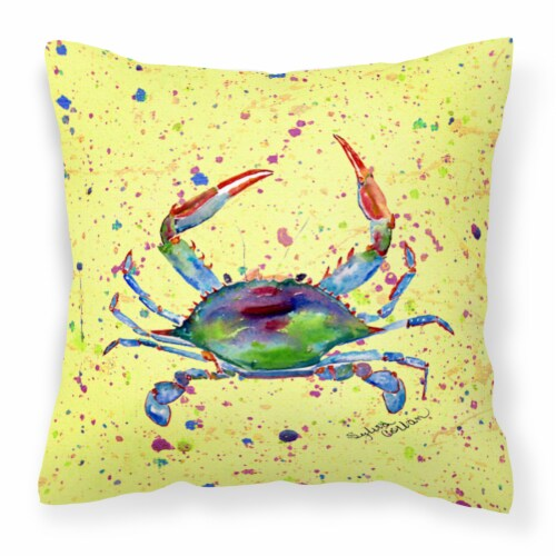 Carolines Treasures  8452PW1414 Crab Decorative   Canvas Fabric Pillow Perspective: front