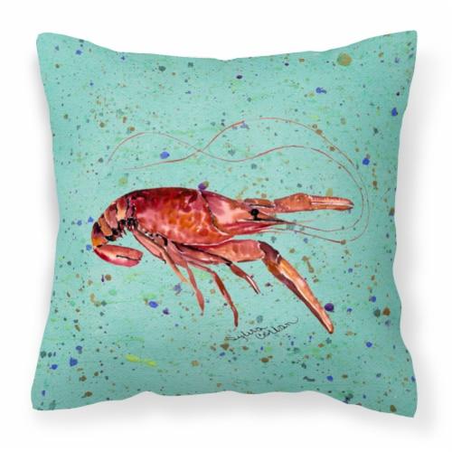 Carolines Treasures  8461PW1414 Crawfish Decorative   Canvas Fabric Pillow Perspective: front
