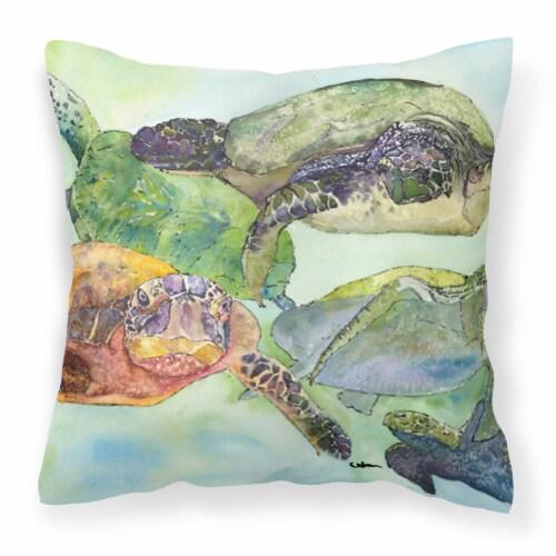 Carolines Treasures  8549PW1414 Turtle Decorative   Canvas Fabric Pillow Perspective: front