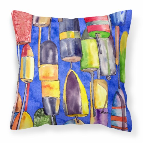 Carolines Treasures  8723-3PW1414 Lobster Bouys Decorative   Canvas Fabric Pillo Perspective: front