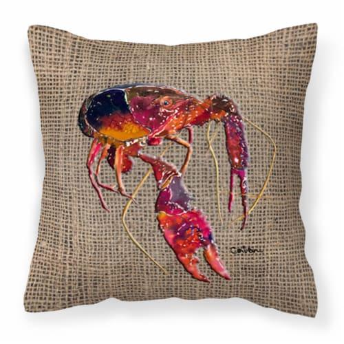 Carolines Treasures  8739PW1414 Crawfish Decorative   Canvas Fabric Pillow Perspective: front