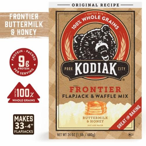 Kodiak Cakes Whole Wheat Oat & Honey Flapjack & Waffle Mix Perspective: front