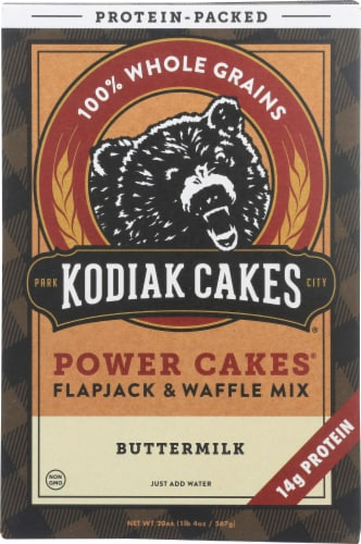 Kodiak Cakes Power Cakes Buttermilk Flapjack & Waffle Mix Perspective: front