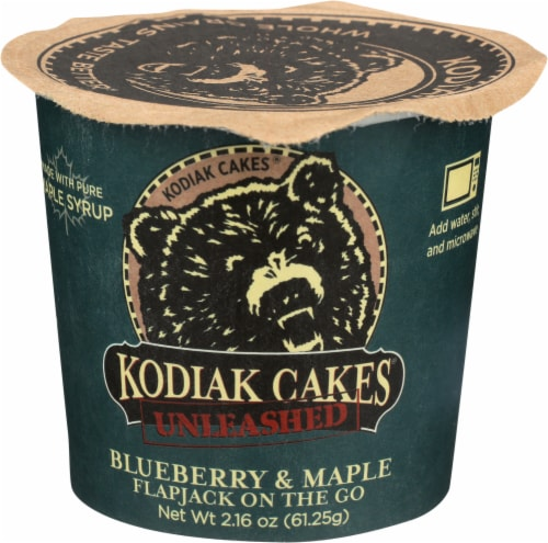 Kodiak Cakes Flapjack Unleashed Blueberry & Maple Cup Perspective: front