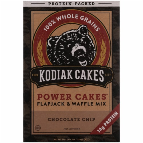 Kodiak Cakes Power Cakes Chocolate Chip Flapjack & Waffle Mix Perspective: front