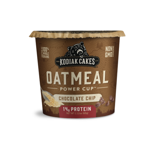 Kodiak Cakes Power Cup Chocolate Chip Oatmeal Perspective: front