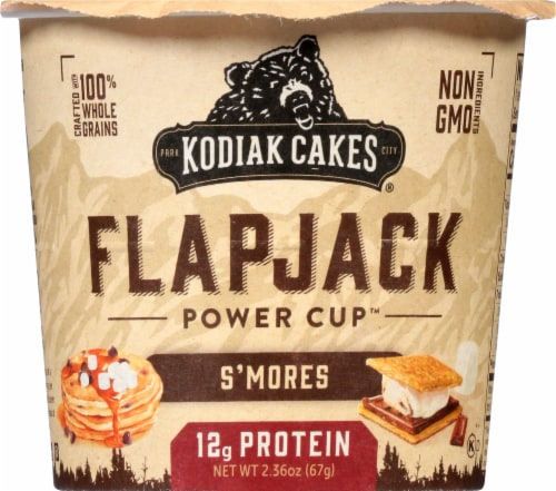 Kodiak Cakes Smores Flapjack Power Cup Perspective: front