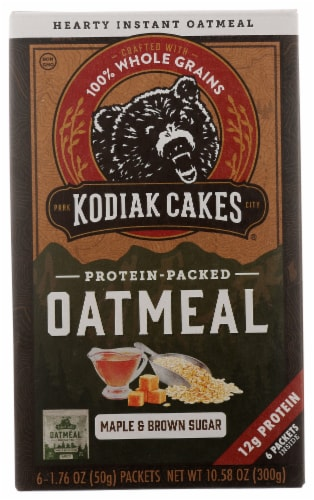 Kodiak Cakes Maple Brown Sugar Oatmeal Packets Perspective: front