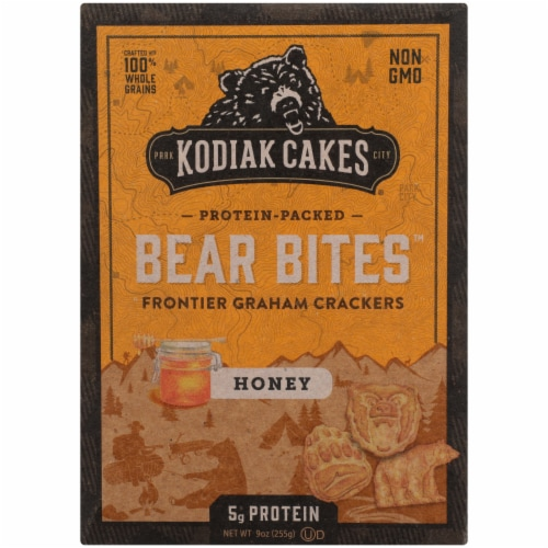 Kodiak Cakes Bear Bites Honey Graham Crackers Perspective: front