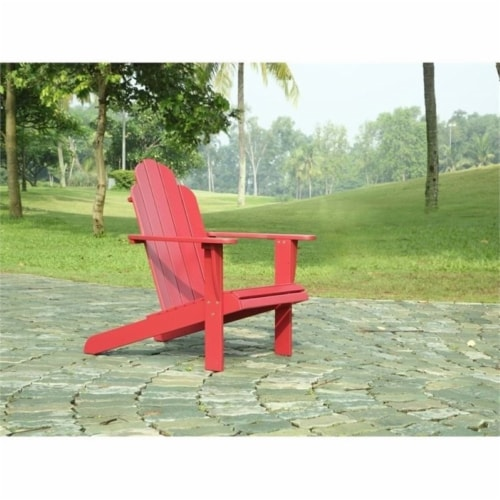 Hawthorne Collection Adirondack Chair in Red Perspective: front