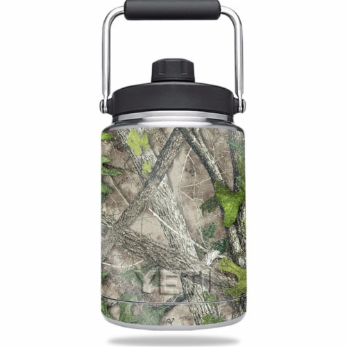 MightySkins GL-YERAMJUG-Htc Green Glossy Glitter Skin for Yeti 0.5 gal Jug - HTC Green Perspective: front