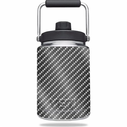 MightySkins GL-YERAMJUG-Carbon Fiber Glossy Glitter Skin for Yeti 0.5 gal Jug - Carbon Fiber Perspective: front