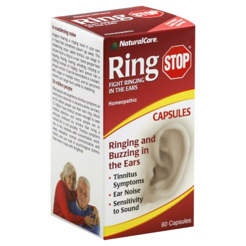 NaturalCare Ring Stop Homeopathic Capsules Perspective: front