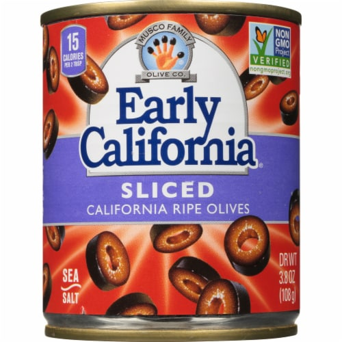 Early California Sliced California Ripe Olives Perspective: front