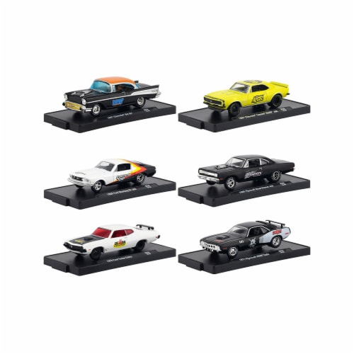 M2 Machines 11228-59 59 in. Drivers Release Blister Packs with 1 by 16 4 Diecast Model Cars, Perspective: front