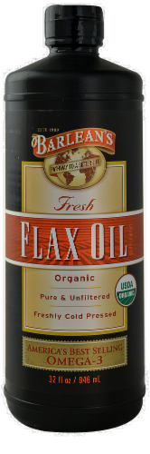 Barlean's Clear Flaxseed Oil Perspective: front