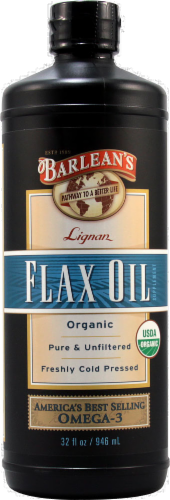 Barlean's Lignan Flaxseed Oil Perspective: front