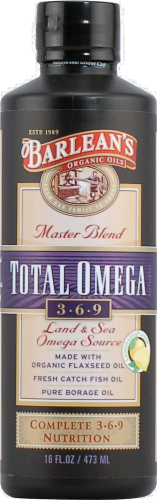 Barlean's Total Omega Fish Oil Perspective: front