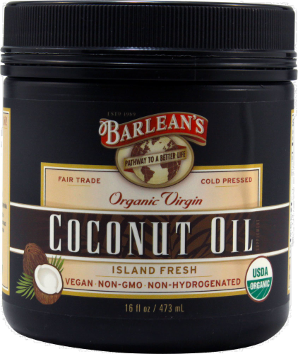 Barlean's Organic Coconut Oil Perspective: front