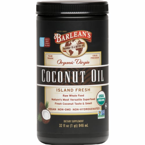 Barlean's Organic Island Fresh Virgin Coconut Oil Perspective: front