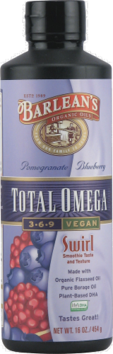Barlean's Pomegranate Blueberry Fish Oil Perspective: front