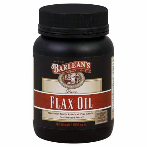 Barlean's Flaxseed Oil Caplets Perspective: front