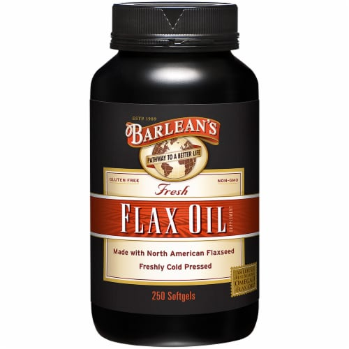 Barlean's  Flax Oil Perspective: front