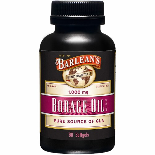 Barlean's Borage Oil Softgel 1000mg Perspective: front