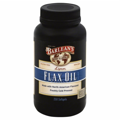 Barlean's Lignan Flax Seed Oil Softgels Perspective: front