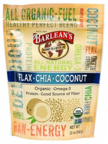 Barlean's Raw Flax Chia Coconut Blend Perspective: front