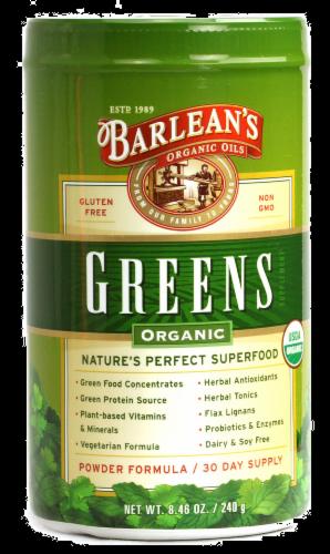 Barlean's Organic Greens Powder Perspective: front