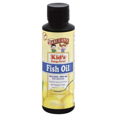 Barlean's Kids Omega Swirl Lemonade Fish Oil Perspective: front