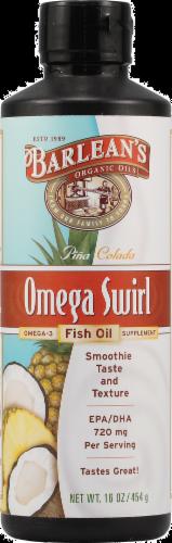 Barlean's Pina Colada Omega Fish Oil Perspective: front