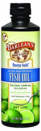 Barlean's Omega Swirl Key Lime Fish Oil Perspective: front