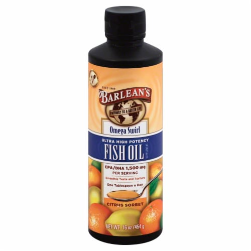 Barleans Swirl Citrus Sorbet Hp Fish Oil Perspective: front