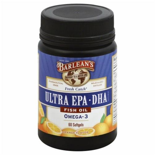 Barlean's Fresh Catch Orange Flavor Omega-3  Fish Oil Perspective: front