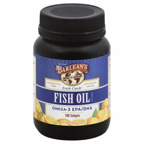 Barlean's Fish Oil Softgels 1000mg Perspective: front