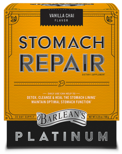 Barlean's Vanilla Chai Stomach Repair Perspective: front