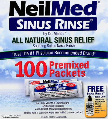 NeilMed Sinus Relief Rinse Packsts Perspective: front