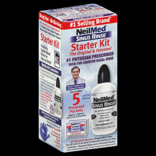 NeilMed Sinus Rinse Starter Kit Bottle Perspective: front